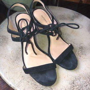 Black Suede Antonio Melani Heels Size 7